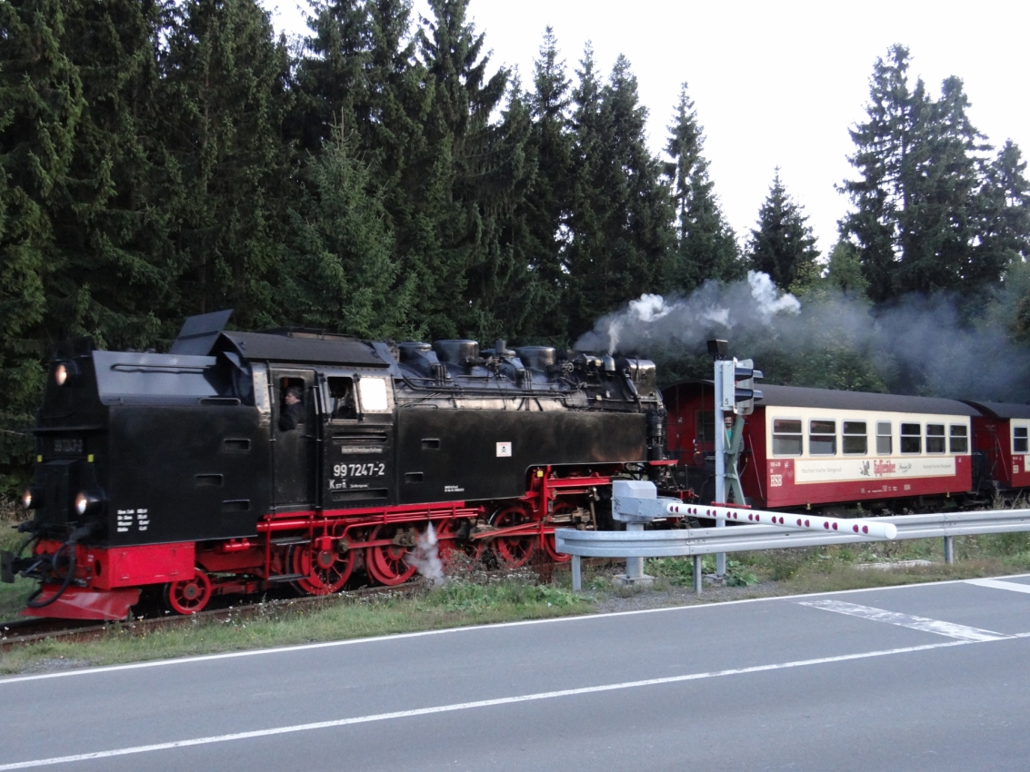 Harzer Schmalspurbahn in Dreiannenhohne im Harz