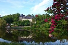 Schloss und See in Stiege